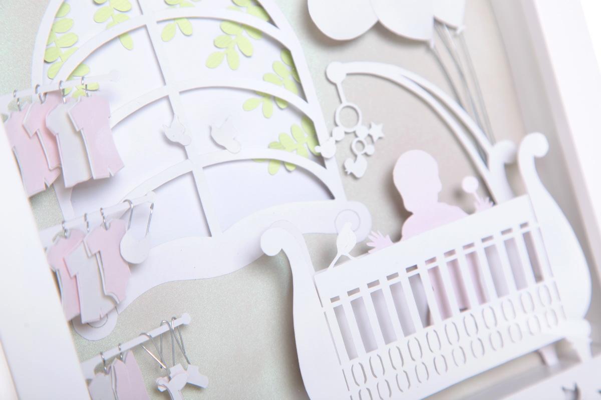 Kado bayi baru lahir/newborn, dengan data kelahiran panjang, berat, jam lahir, nama orang tua lucu dan eksklusif