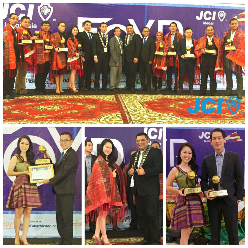 """Junior Chamber International (JCI) Indonesia menggelar acara """"Ten Outstanding Young Person"""" (TOYP) di Garuda Plaza Hotel, Medan. TOYP merupakan ajang pemberian penghargaan kepada 10 pemuda terbaik yang memiliki pengaruh terhadap lingkungan di sekitarnya, di negaranya, bahkan di dunia."""
