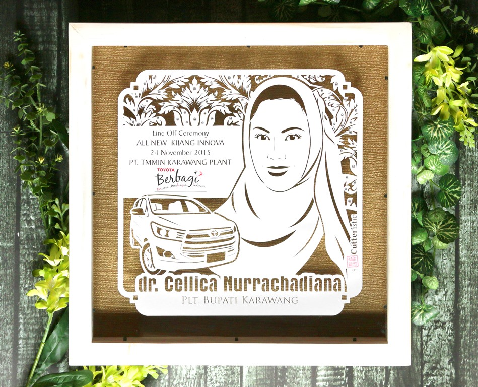 Souvenir pembicara eksklusif dan unik dari paper cutting untuk public speaker seminar, training, acara perusahaan, sekolah/kampus