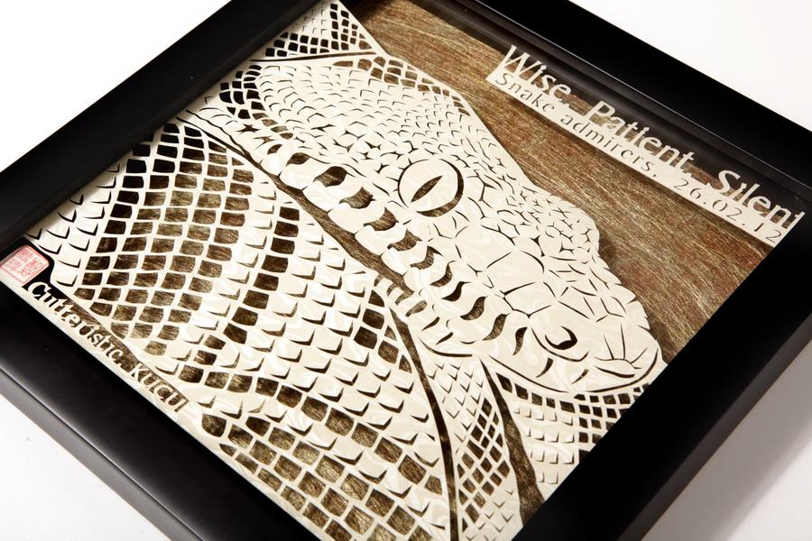 Paper cutting ular boa