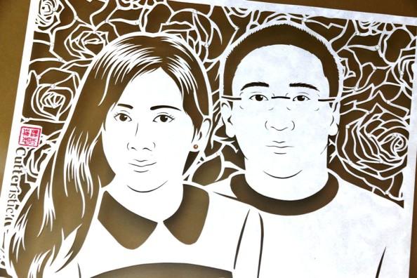 Line Art Wajah : Kado pernikahan cutteristic part