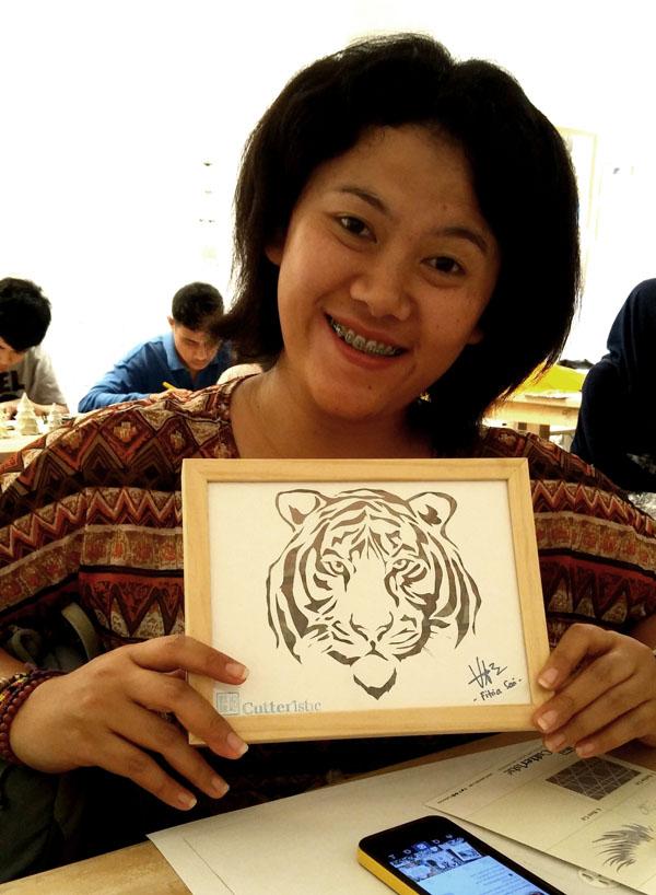 Free Pattern 02 Tiger Cutteristic