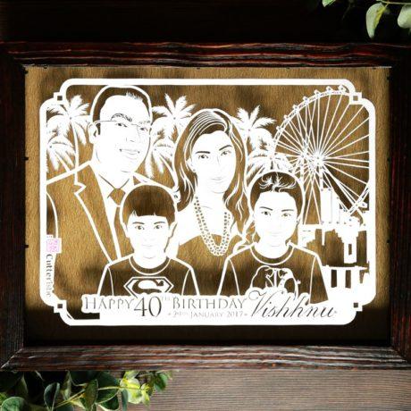 Foto Keluarga Unik Eksklusif Cutteristic
