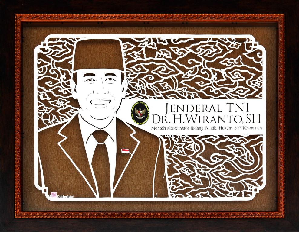 Sketsa wajah paper cutting untuk kado sertijab (serah terima jabatan) yang unik & eksklusif, tanda terima kasih untuk atasan, bos/kolega
